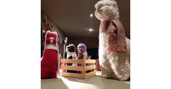 "Alpaca Plush Teddy 6"""